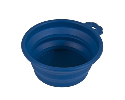 petmate silicone travel bowl 3 cup navy blue
