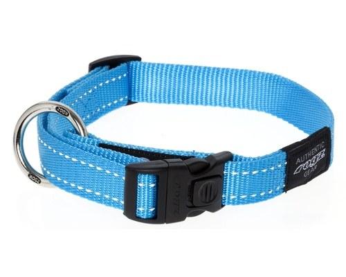 rogz fanbelt collar turquoise large reflective