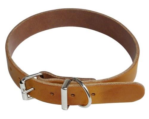 k9 collar plain leather 18x45cm tan
