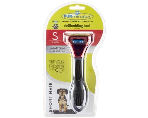 Furminator Small Short Haired Dog Deshedding Tool Metallic Red My Pet Warehouse