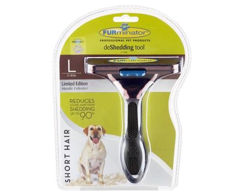 Furminator Large Short Haired Dog Deshedding Tool Metallic Bronze My Pet Warehouse