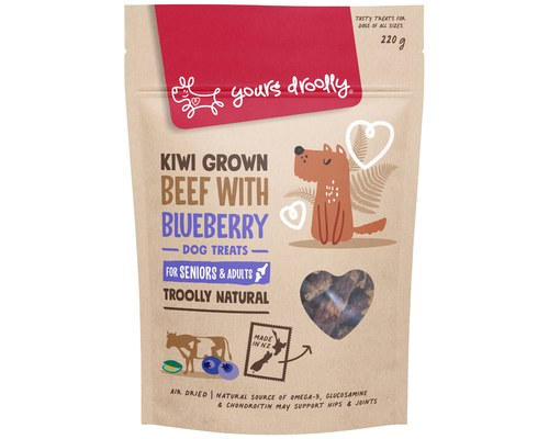 YOURS DROOLLY NZ HIP JOINT BEEF WITH BLUE BERRY 220G