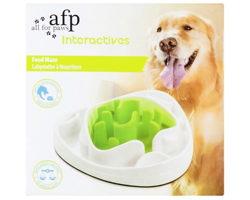 AFP interactive food maze dog toy