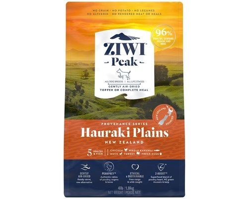 ZIWIPEAK PROVENANCE HAURAKI PLAINS DOG FOOD 1.8KG