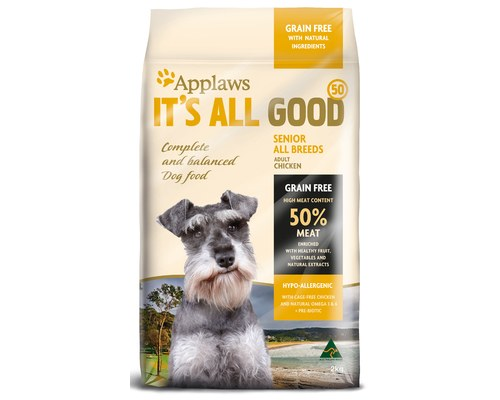 applaws its all good dry senior dog food 2kg