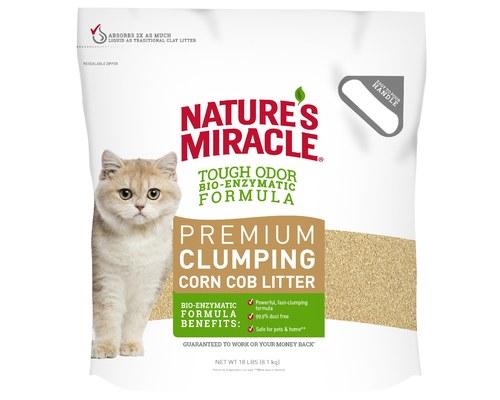 Natures Miracle Premium Corn Cob Clumping Cat Litter 8kg My Pet Warehouse