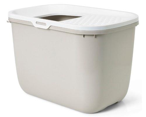 Savic Hop In Cat Litter Box White Mocha My Pet Warehouse