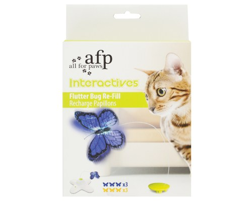 All For Paws Interactives Cat Flutter Bug Refil Two pack