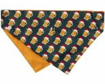 FUZZYARD XMAS BANDANA MERRY BEERMAS MEDIUM/LARGE