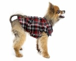 FUZZYARD DOG COAT - RED CHECKED FLANNO SIZE 2
