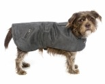 KAZOO DUAL COLLAR COAT GREY 46.5CM MEDIUM