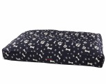 SNOOZA SHAPES OBLONG PAWS N BONES NAVY LARGE