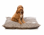HARPER & HOUND GEOMETRIC PILLOW BROWN MEDIUM-LARGE 100X80CM**