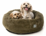 FUZZYARD ESKIMO MOSS GREEN SMALL DOG BED