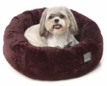 FUZZYARD ESKIMO MERLOT SMALL DOG BED