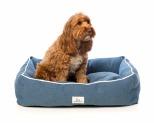 HARPER & HOUND RECTANGULAR BED BLUE 8 MEDIUM 86.3X58.4X22.8CM
