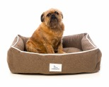 HARPER & HOUND RECTANGULAR BED BROWN SMALL 66X45.7X17.7CM**