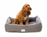 HARPER & HOUND RECTANGULAR BED GREY MEDIUM 86.3X58.4X22.8CM