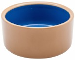 DOG BOWL STONEWARE MEDIUM - BROWN