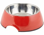 DOGIT MELAMINE DOG BOWL 350ML RED*+
