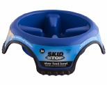 JW SKID STOP SLOW FEED BOWL BLUE AND WHITE LARGE
