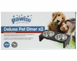 PAWISE DELUXE PET DINER 2 BOWL 350ML**
