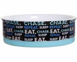 DOOG CERAMIC BOWL SLEEP, EAT, CHASE, REPEAT SMALL**