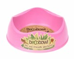 BECO PETS PINK DOG BOWL SMALL