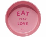 GUMMI PET TEXT MELAMINE BOWL PINK MEDIUM