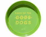 GUMMI PET TEXT MELAMINE BOWL GREEN MEDIUM