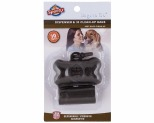 SPOTTY DOG BAG DISPENSER BONE 30 PK - BLACK