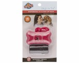 SPOTTY DOG BAG DISPENSER BONE 30 PK - RED
