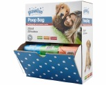 PAWISE POO BAG SINGLE ROLL COUNTER DISPLAY 63 ROLLS*+