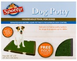 SPOTTY INDOOR DOG POTTY - BROWN