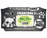 ABSORB PLUS CHAROCOAL ALOE VERA DOG WIPES 80 SHEETS