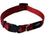 ROGZ NITE LIFE COLLAR RED REFLECTIVE SMALL