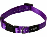 ROGZ NITE LIFE COLLAR PURPLE REFLECTIVE SMALL