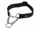 ROGZ SNAKE OBEDIENCE COLLAR BLACK REFLECTIVE MEDIUM