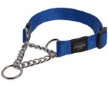 ROGZ SNAKE OBEDIENCE COLLAR BLUE REFLECTIVE MEDIUM