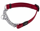 ROGZ SNAKE OBEDIENCE COLLAR RED REFLECTIVE MEDIUM