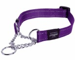 ROGZ SNAKE OBEDIENCE COLLAR PURPLE REFLECTIVE MEDIUM