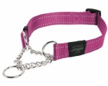 ROGZ SNAKE OBEDIENCE COLLAR PINK REFLECTIVE MEDIUM