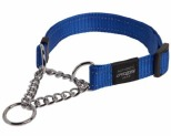 ROGZ FANBELT OBEDIENCE COLLAR BLUE REFLECTIVE LARGE