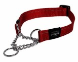 ROGZ FANBELT OBEDIENCE COLLAR RED REFLECTIVE LARGE