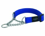 ROGZ LUMBERJACK OBEDIENCE COLLAR BLUE REFLECTIVE EXTRA LARGE
