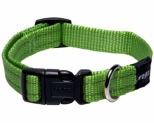 ROGZ SNAKE COLLAR LIME RELFECTIVE MEDIUM
