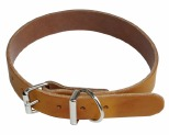 K9 COLLAR PLAIN LEATHER 12X35CM TAN