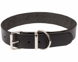 K9 COLLAR PLAIN LEATHER 3X65CM BLACK