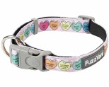 FUZZYARD DOG COLLAR CANDY HEARTS MEDIUM