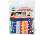 WAGGING TAILZ PUPPY ID BANDS NEWBORN HEART 12PK